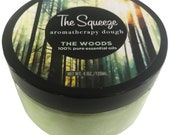 The Squeeze - The Woods 100 essential oil blend stress relief dough for self care, aromatherapy stress ball, stress relief
