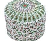 Indian Mandala Pouf Ottoman Seating Pouf Cotton Boho Floor Pillow Hippie Footstool Cover Bohemian Decorative Home Decor