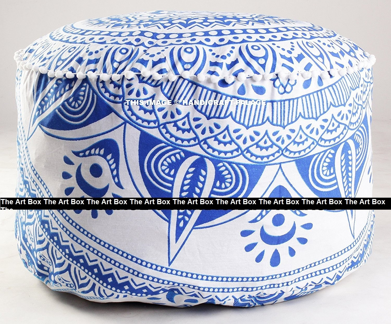 Indian Round Pouffe Seating Handmade Bohemian Cover Foot Stool Etsy