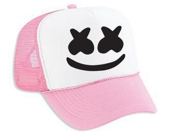 cac9c05fc Marshmello DJ Hat Square Flat bill Snapback Baseball Cap | Etsy