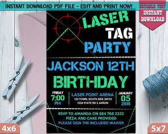 Laser Tag Invites