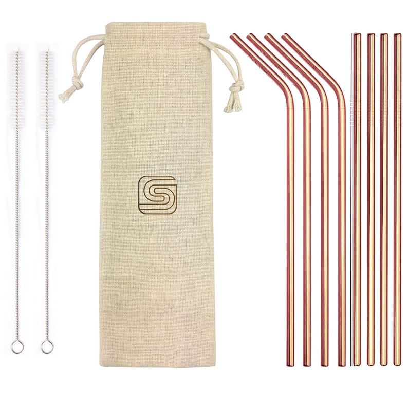 Send Stainless Steel Straws with case via Merklertree