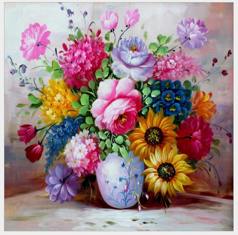 flower vase diamond painting full square floral wall art blossom decor crystal pictures diamond dotz stickers diy diamond cross stitch diy