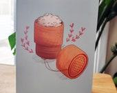 Sticky Rice Greeting Card