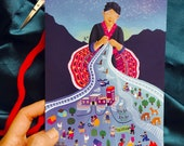 Abolitionist Elder - Hmong story cloth - Greeting Card