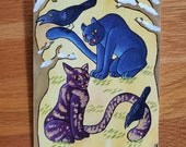 Minneapolis Minhwa - Cats and Crows - Greeting Card