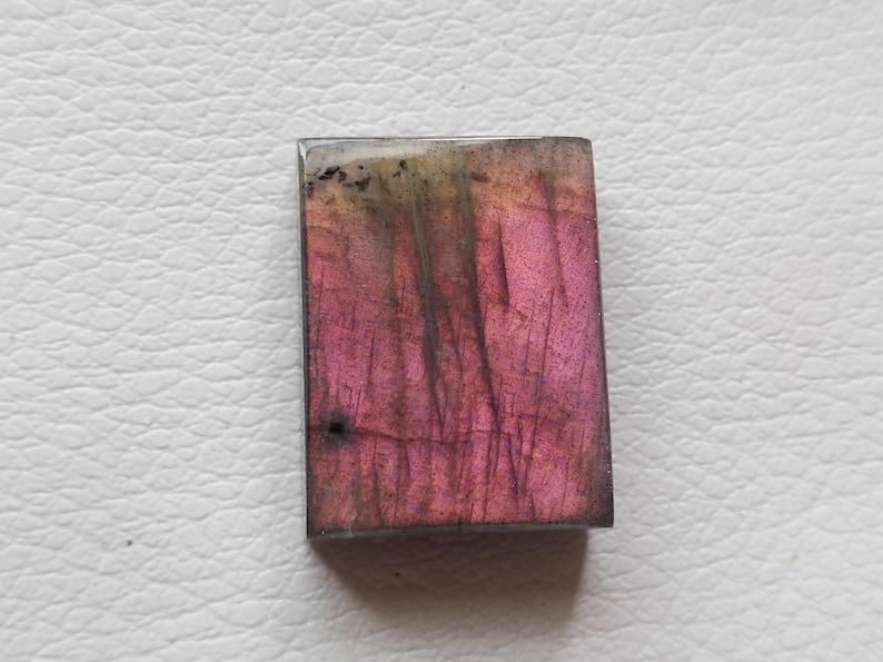 22x17x7 mm Beautiful Pink Labradorite Cabochon Gemstone Loose Rectangular Shape For Jewelry Making Labradorite Cabochon