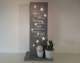 door sign,Home is..., garden decoration, wooden sign with string of lights, wooden sign with saying,Decoration, Christmas