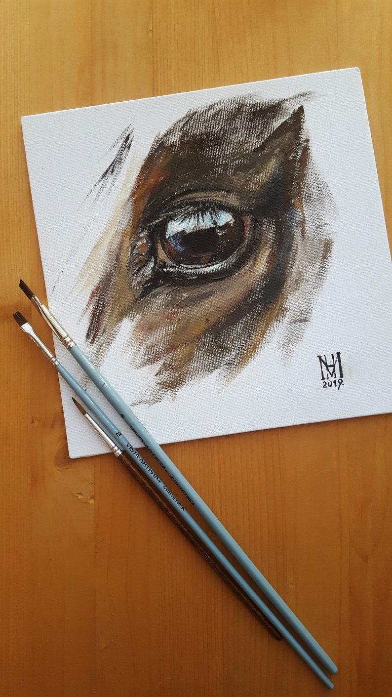 Horse eye ORIGINAL Acrylic painting / Acrylic on canvas image 0