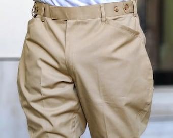 a3c2682fd999f Men/women Equestrian Breeches Riding Jodhpuri Cotton Pants Khaki Breeches  Jodhpurs Indian Breeches Pants