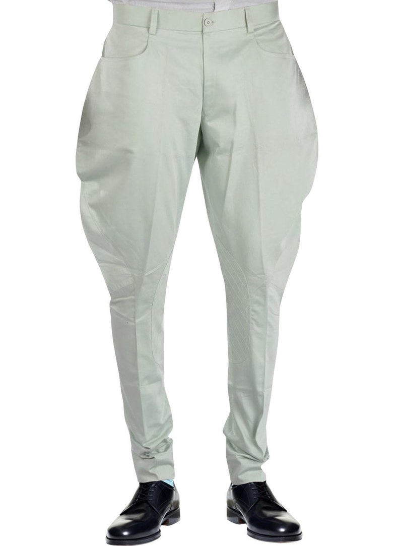 Men's Vintage Pants, Trousers, Jeans, Overalls Men/Women Jodhpurs Polo Pants Horseback Riding Breeches Traditional Military Pants Bikers Riding Breeches Retro Jodhpurs $80.00 AT vintagedancer.com