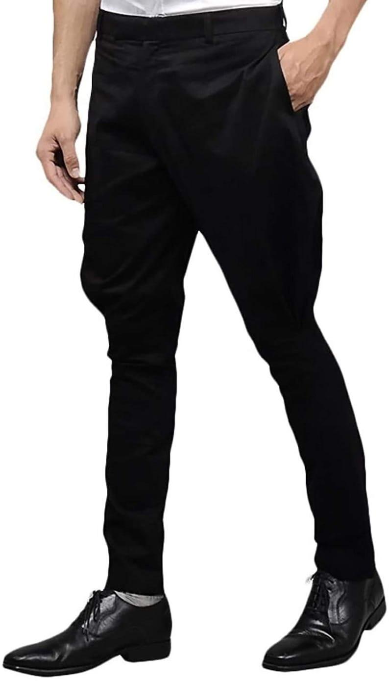 Men's Vintage Pants, Trousers, Jeans, Overalls Men/Women Black Jodhpurs Breeches Pant Jodhpuri Pants Ridding Breeches Trouser $80.00 AT vintagedancer.com