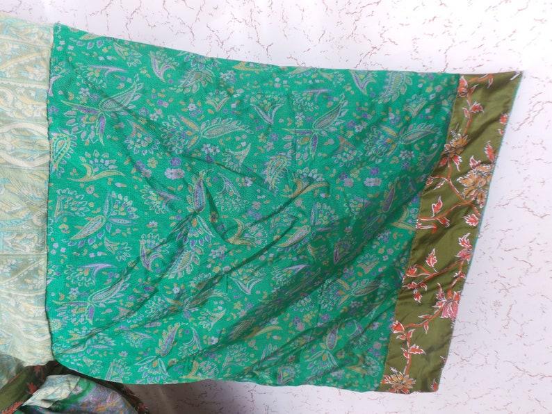Nightdress Kimono Vintage Silk Sari robe Bathrobe kimono Sleepwear robe AK 85