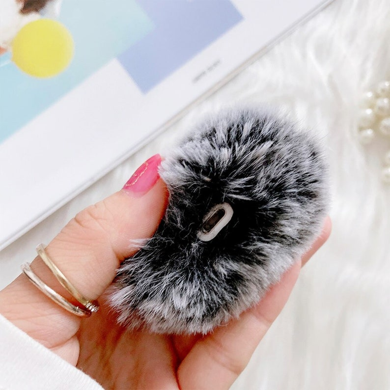 Airpods Pro case Cute Warm Rabbit Airpods case Ears Furry Fluffy Winter Headphones Cases for Earphone Covers Box for apple Airpods Pro 1  2