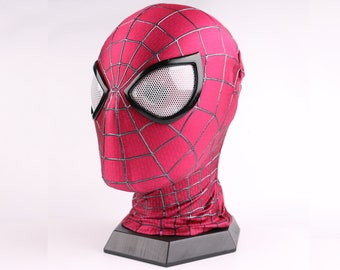The Amazing Spiderman 2 Mask Amazing Spiderman 2 Cosplay Mask with Faceshell and Lenses, Wearable Movie Prop Replica