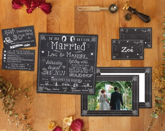 Wedding Invitation digital or printed Café