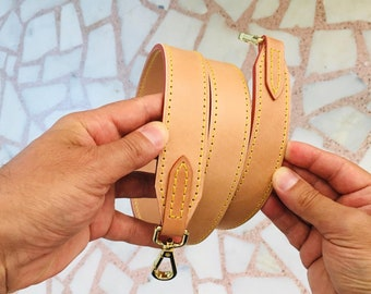 Vachetta Leather Handle Shoulder Cross Body Strap Replacement To Match Louis Vuitton Bags