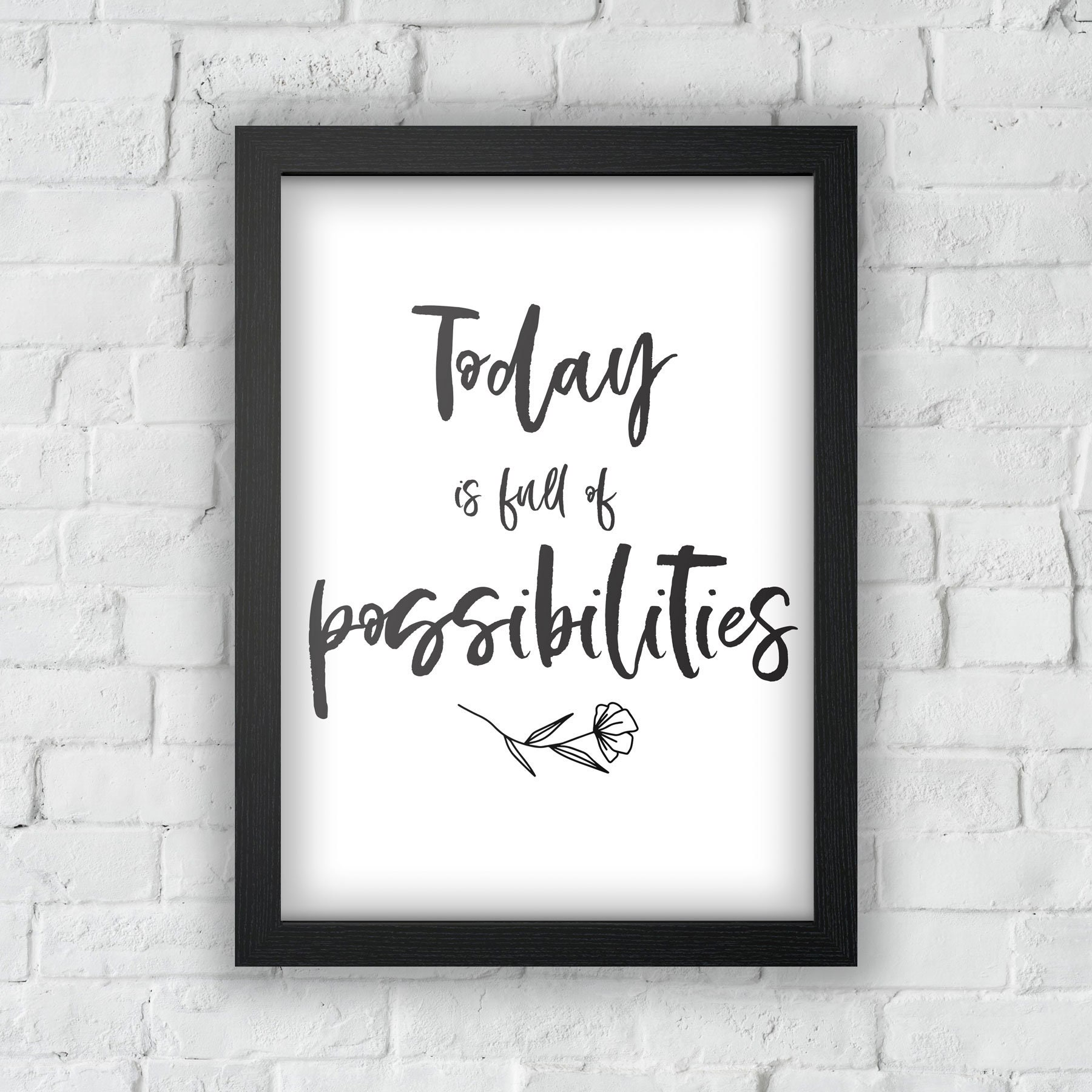 Wall Art Illustrated Quote The Future Is In Your Hands A4 Print