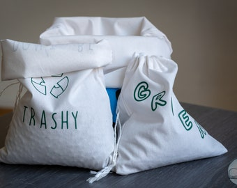 Humorous decorated cotton bulk bags Gifts zero ecological waste and unique handmade cotton
