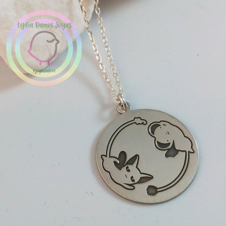 Gifts Girls Handmade Jewelry Keros Necklace /& Spinel Card Captor Magical Girl Sterling Silver 925 Kawaii Jewelry