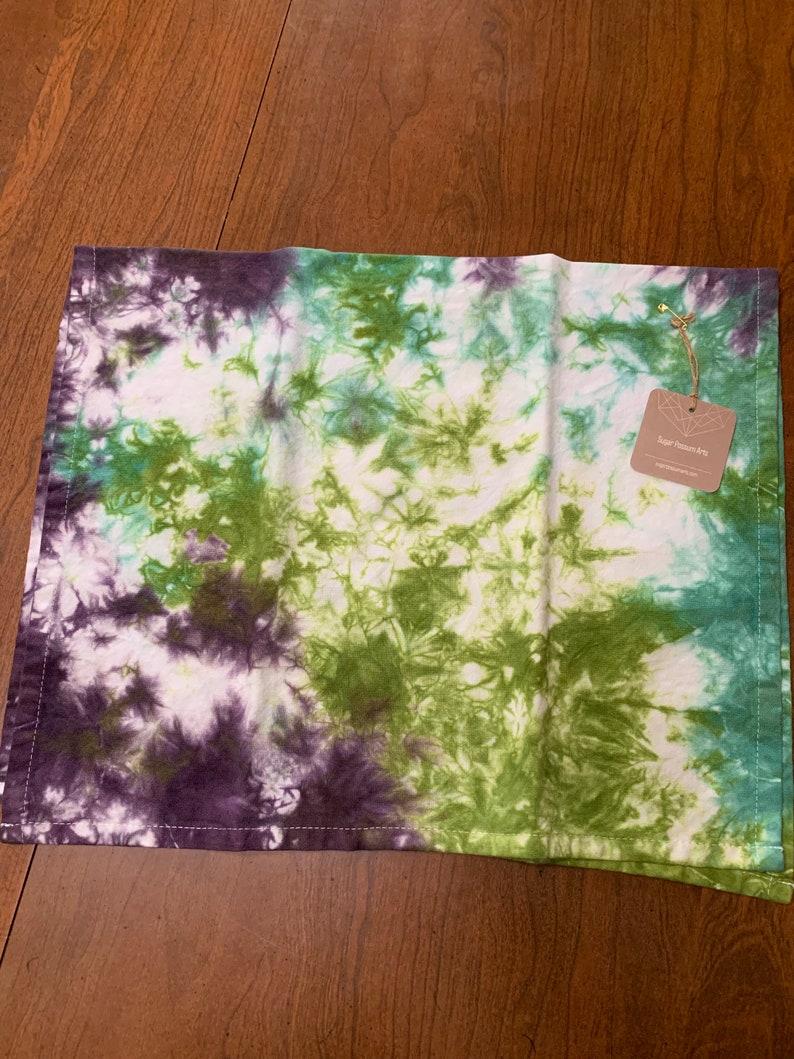 Hand Dyed Tea Towel with Hang Loop