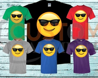 e0c62ad61876 Smiling Face With Sunglasses Emoji Unisex T-shirt