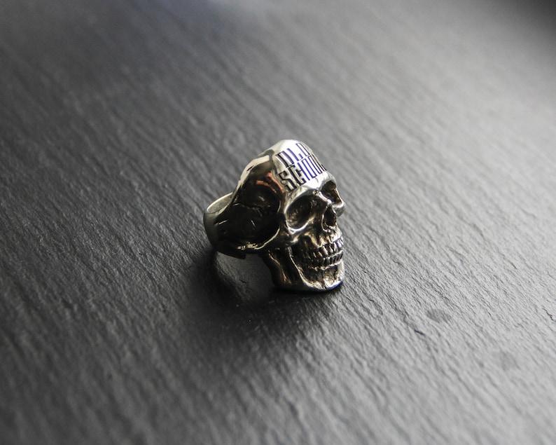 XXL size Skull Ring gothic rocker style BIG/&HEAVY-biker ring sterling silver skull ring