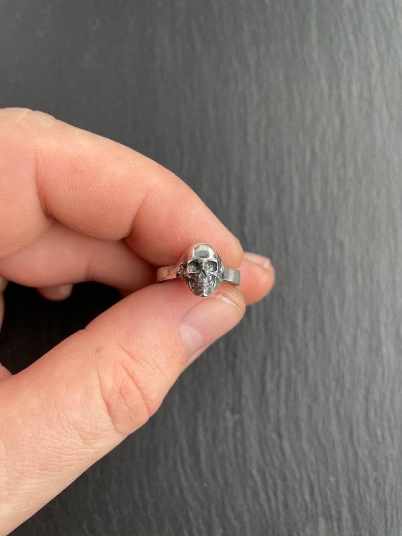 elegant skull ring Small skull silver ring sterling silver skull