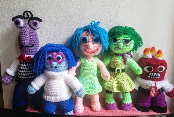 Disney Pixar Inside Out Characters Joy Sadness Anger Etsy