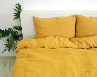 yellow linen pillow etsy
