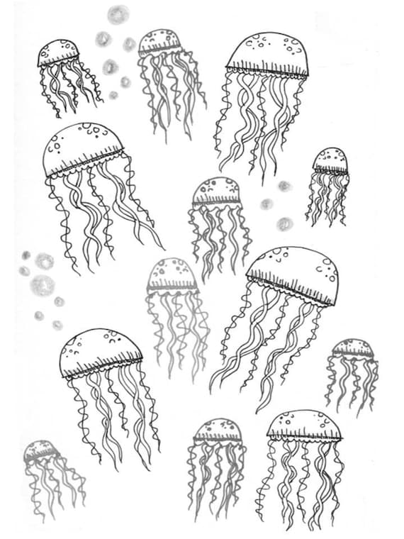Jellyfish Coloring Pages Printable