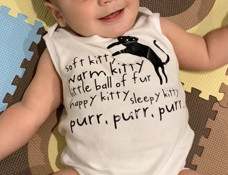 Soft Kitty Big Bang Theory    LONG SLEEVE Romper Onesie Makes a great Gift