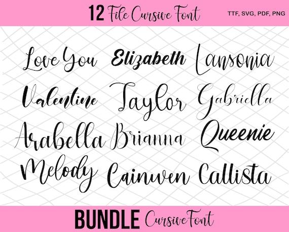 Download Bundle Cursive font svg Signature font For Cricut Bundle ...