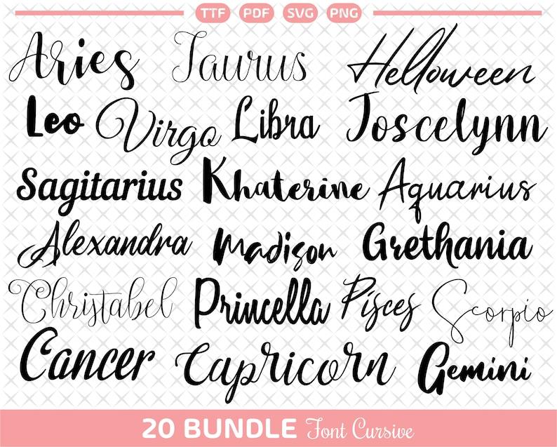 Download Cursive font svg Bundle for Signature font For Cricut ...