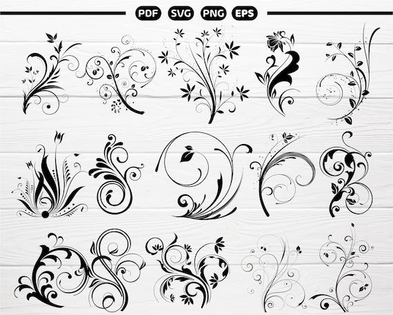 Decorative Ornaments SVG Decorative Vine Ornaments Vine SVG Swirls Svg Clipart for Cricut and Silhouettes