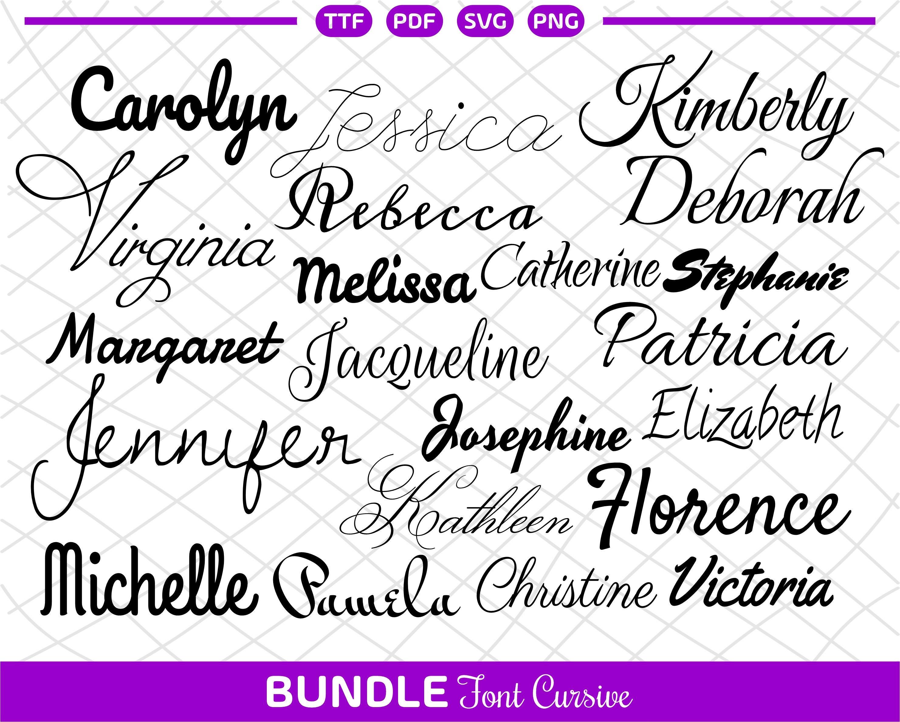 Bundle Cursive font SVG Signature font For Cricut Bundle cursive font svg Cricut font svg bundle Silhouette Cursive fonts for Cricut