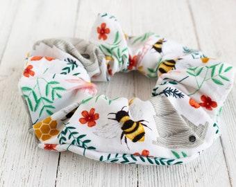 hair tIes hair accessories Bumble Bee Handmade Scrunchie-insect scrunchies bee Honey Bee Scrunchie-Bee scrunchies