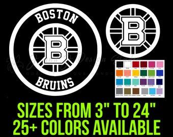 Amazon Com Skyhighprint Boston Bruins Sticks Nhl Decor Vinyl Print Sticker 14 X 10 Kitchen Dining