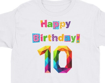 Tenth birthday shirt | officially 10 years old birthday shirt | 10th Birthday Shirt / Birthday Countdown / Of Being Awesome / Tenth Birthday