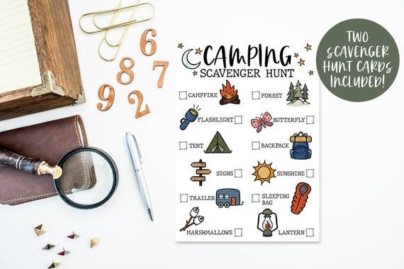 Camping Scavenger Hunt / Camping Scavenger Hunt / Kids