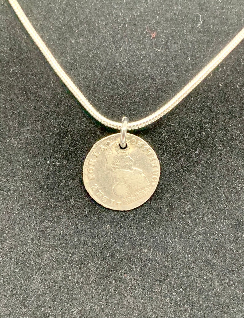 Silver 1830 Bolivian 1 Sol Coin Necklace Bolivian Heritage Silver Coin Old Pendant Charm Antique 1830 Bolivian Coin Pendant