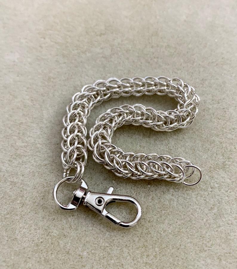 Strong Full Persian Weave in Sterling Silver Bracelet