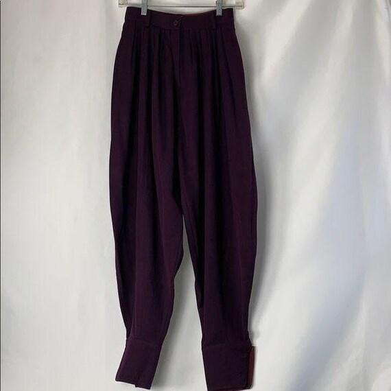 VINTAGE Kenzo Purple High Waist Pants