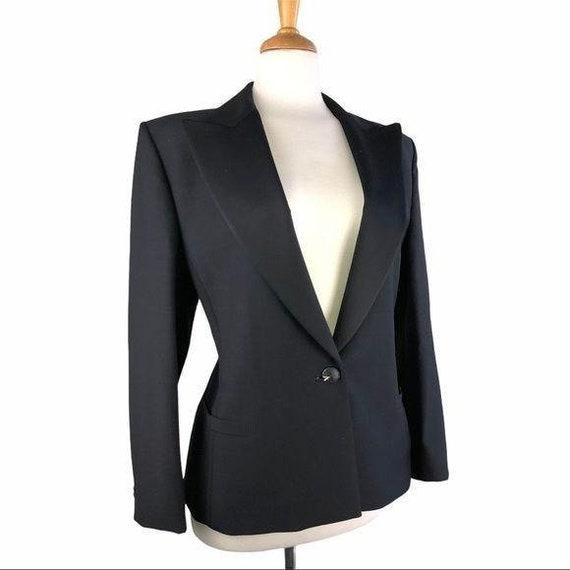 Gianni Versace Vintage Black Jacket & Skirt Set
