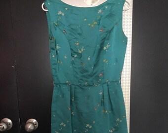 b36623500c0 Vintage 1960s cheongsam 60s teal blue silk wiggle dress 1960s pencil wiggle  dress floral wiggle dress silk wiggle dress summer spring dress