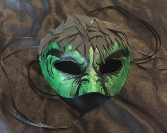 225aaf91cbf Avengers Incredible Hulk inspired masquerade mask. Hand painted  papier-mâché and foam