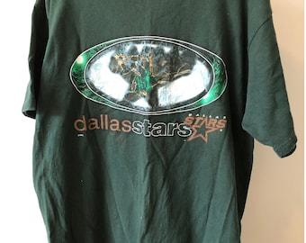 040182eaf Vintage 1990s Dallas Stars NHL National Hockey League Logo 7 T-Shirt