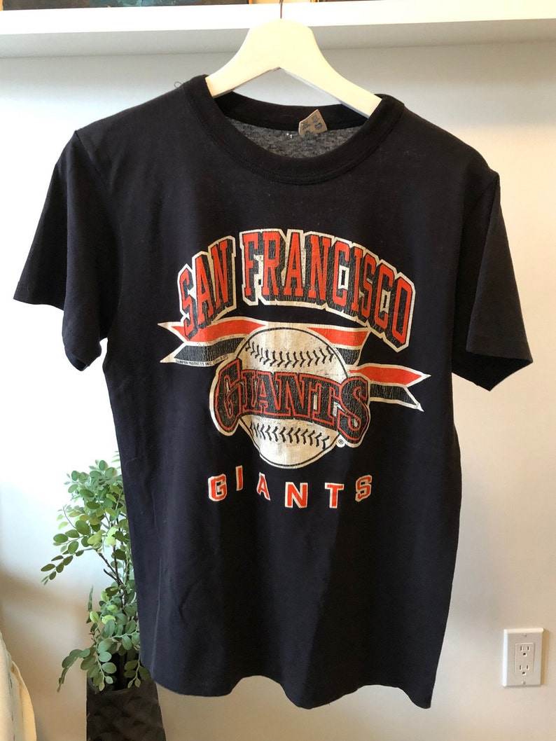 pretty nice 5188b 0a160 Vintage 80s San Francisco Giants T-shirt / Vintage Giants Tee / Vintage  Champion T-Shirt / Vintage Baseball T-Shirt / Vintage MLB T-Shirt