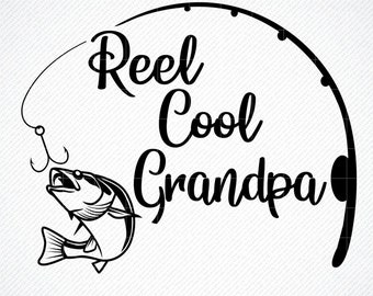 Free Father's day svg cutting files, including boxes and cards. Cool Grandpa Svg Etsy SVG, PNG, EPS, DXF File