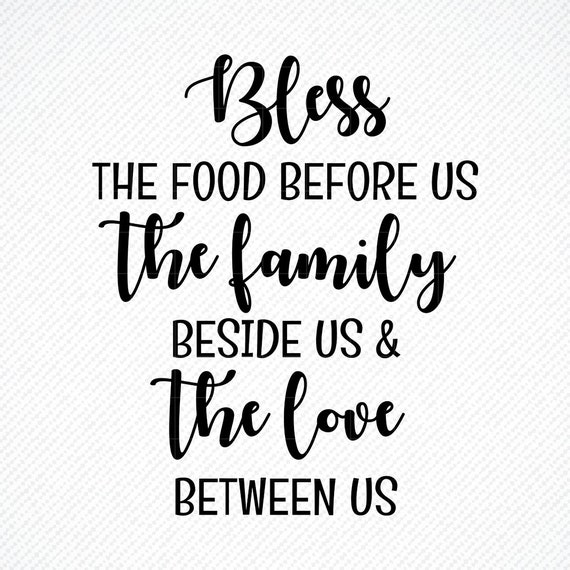 Bless The Food Before Us Svg Home Decor Svg Dinning Room Etsy
